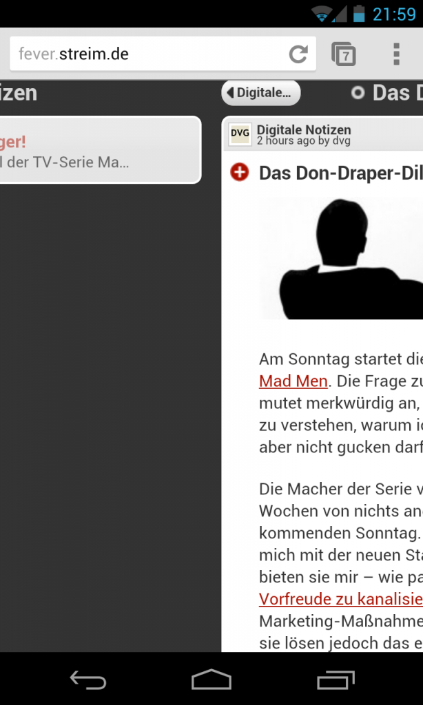 Defekte Grafik bei Fever