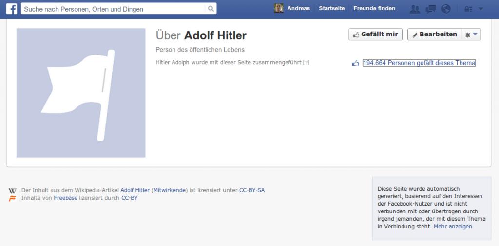 Adolf Hitler sammelt bei Facebook Fans